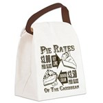 Pie Rates of the Caribbean Canvas Lunch Bag
