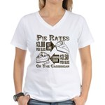 Pie Rates of the Caribbean Women's V-Neck T-Shirt