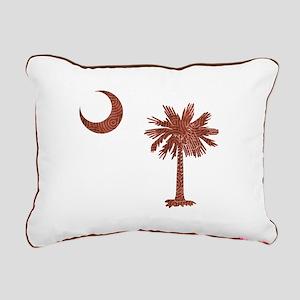 Palmetto & Cresent Moon Rectangular Canvas Pillow