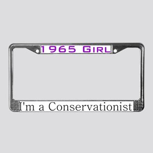 1965 Girl, Humor, Lady Female License Plate Frame