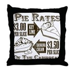 Pie Rates of the Caribbean Throw Pillow