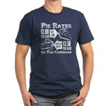 Pie Rates of the Caribbean Men's Fitted T-Shirt (d