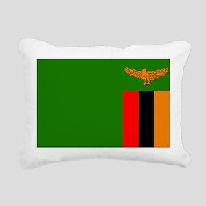 Flag of Zambia Rectangular Canvas Pillow
