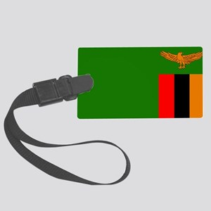 Flag of Zambia Large Luggage Tag