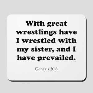 Genesis 30:8 Mousepad