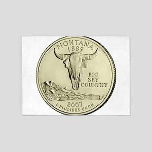 Montana Quarter 2007 Basic 5'x7'Area Rug