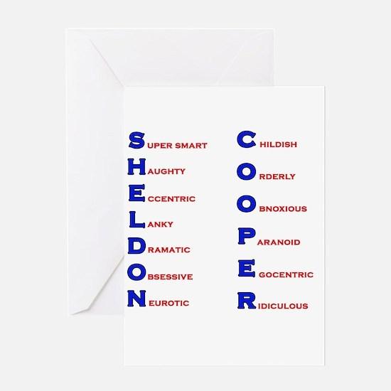 Sheldon Cooper Adjectives Greeting Card