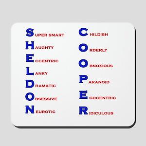 Sheldon Cooper Adjectives Mousepad