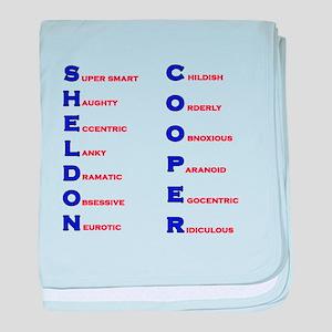 Sheldon Cooper Adjectives baby blanket