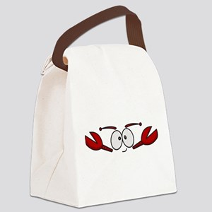 Lobster Face Canvas Lunch Bag