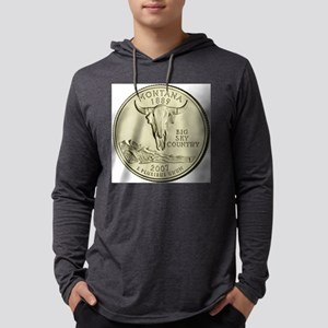 Montana Quarter 2007 Basic Mens Hooded Shirt