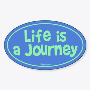 Journey Oval Sticker