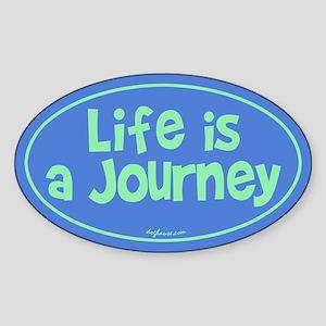 Journey Oval Sticker