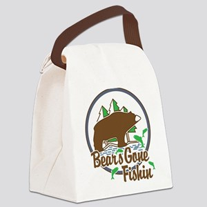 Bear's Gone Fishn' Canvas Lunch Bag