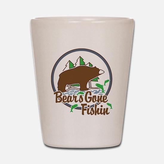 Bear's Gone Fishn' Shot Glass
