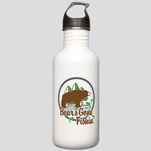 Bear's Gone Fishn' Stainless Water Bottle 1.0L