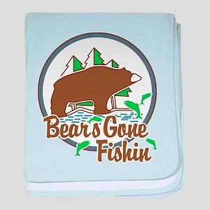 Bear's Gone Fishn' baby blanket