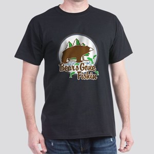 Bear's Gone Fishn' Dark T-Shirt