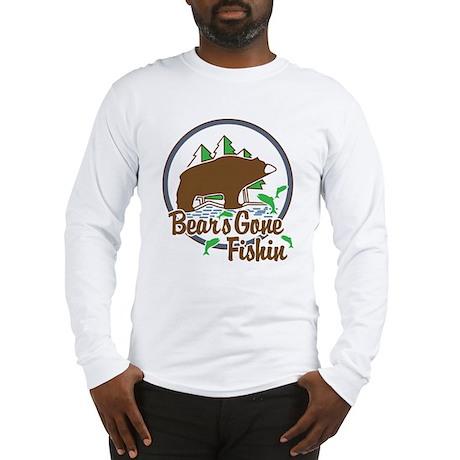 Bear's Gone Fishn' Long Sleeve T-Shirt