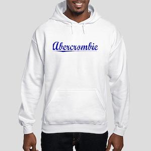 Abercrombie, Blue, Aged Hooded Sweatshirt