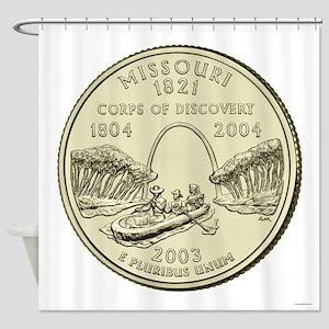 Missouri Quarter 2003 Basic Shower Curtain