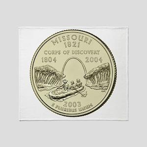 Missouri Quarter 2003 Basic Throw Blanket