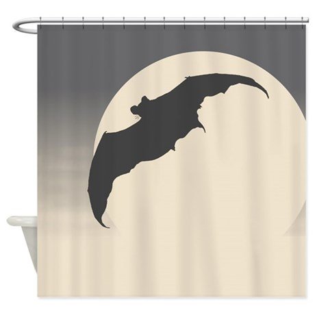 Moonlight Bat Shower Curtain