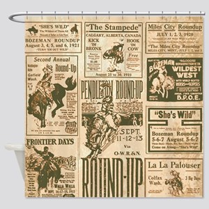 Vintage Rodeo Round Up Shower Curtain