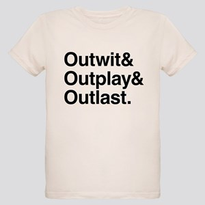 Outwit Outplay Outlast. Organic Kids T-Shirt