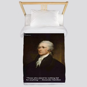 Alexander Hamilton & Fall For Twin Duvet Cover