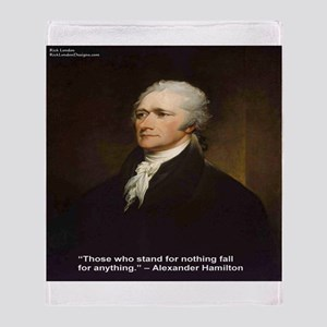 Alexander Hamilton & Fall For Throw Blanket