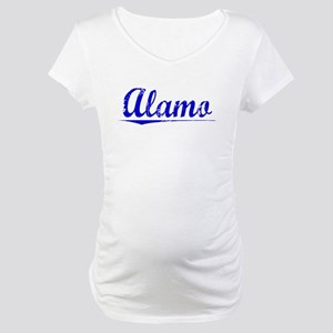 Alamo, Blue, Aged Maternity T-Shirt