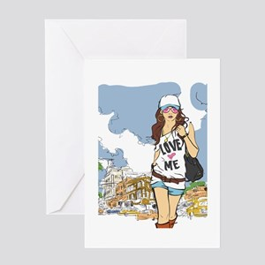 Girl Swag in the City Greeting Card