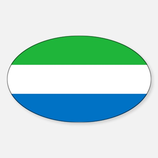 Flag of Sierre Leone Sticker (Oval)