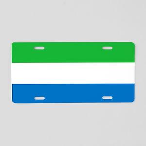 Flag of Sierre Leone Aluminum License Plate