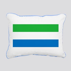 Flag of Sierre Leone Rectangular Canvas Pillow