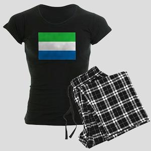 Flag of Sierre Leone Women's Dark Pajamas