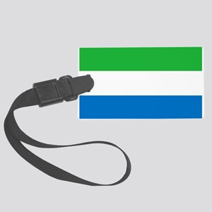 Flag of Sierre Leone Large Luggage Tag