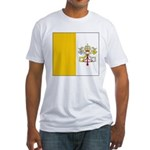 Vatican City Blank Flag Fitted T-Shirt