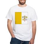 Vatican City Blank Flag White T-Shirt