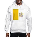 Vatican City Blank Flag Hooded Sweatshirt