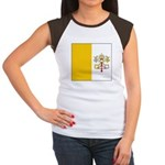 Vatican City Blank Flag Women's Cap Sleeve T-Shirt