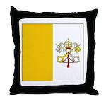 Vatican City Blank Flag Throw Pillow