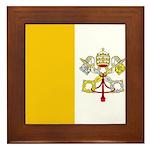 Vatican City Blank Flag Framed Tile