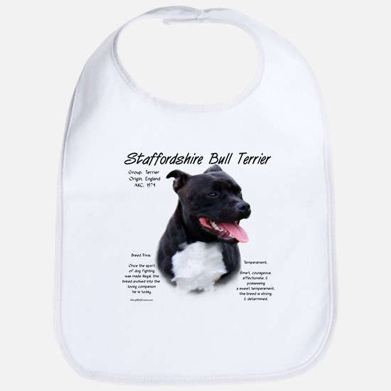 Staffordshire Bull Terrier Cotton Baby Bib