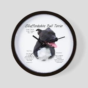 Staffordshire Bull Terrier Wall Clock