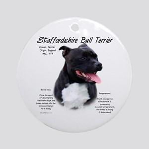 Staffordshire Bull Terrier Round Ornament