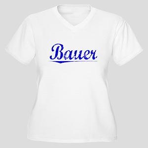Bauer, Blue, Aged Women's Plus Size V-Neck T-Shirt