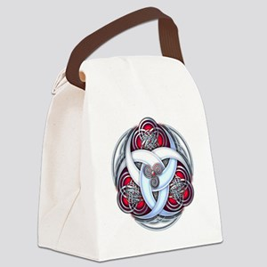 Celtic Triple Crescents - Red Canvas Lunch Bag