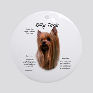 Silky Terrier Round Ornament
